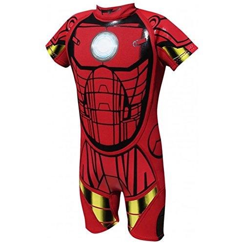 ney Marvel Jungen Mädchen Surfen Wasser Neoprene Schwimmen Anzug Nassanzug - Kinder 1-2 Jahre K02, Iron Man (Iron Man Spiderman Anzug)