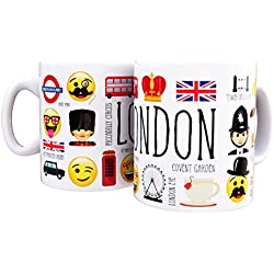 Mug London emoji icons