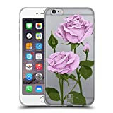 Head Case Designs Pfund Silber Rosen Und Wildblumen Soft Gel Hülle für iPhone 6 Plus/iPhone 6s Plus
