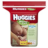 Huggies Natural Care Fragrance Free Baby Wipes Refill, 224 Count (Pack of 3)