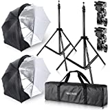 Neewer® Studio Digital Flash Mount Zwei abnehmbaren Bezug schwarz Umbrella Kit 83,8cm/84cm für Canon 430EX II, 580EX II, Nikon SB600SB800, Yongnuo YN560, YN565, NEEWER TT560, TT680