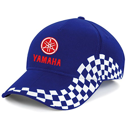 YAMAHA Biker Motorrad Race, Bestickte Grand Baseball Cap Mütze -1051Blau (Motorrad-baseball-mütze)