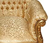 Casa Padrino Barock 2er Sofa Master Gold Muster / Gold – Wohnzimmer Couch Möbel Lounge - 3