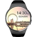 SmartWATCH Premium R1D Uhr Bluetooth Watch mit WhatsApp*, SIM-Slot und Pulsmesser (Herzfrequenz) für Apple iPhone (iOS*) & Android, Technikware Schwarz