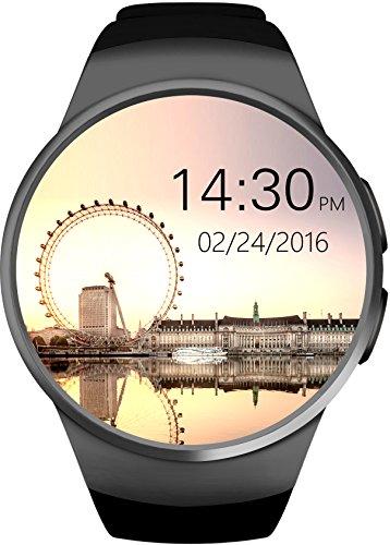 SmartWATCH-Premium-R1D-Uhr-Bluetooth-Watch-mit-WhatsApp-SIM-Slot-und-Pulsmesser-Herzfrequenz-fr-Apple-iPhone-iOS-Android-Technikware-Schwarz