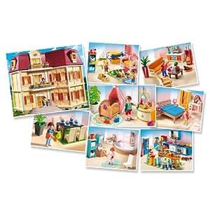 Playmobil 5302 grand set complet la maison de ville avec - Playmobil wohnzimmer 5332 ...