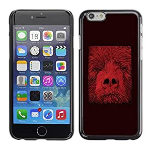 Omega Covers - Snap on Hard Back Case Cover Shell FOR Apple Iphone 6 Plus / 6S Plus ( 5.5 ) - Animal Minimalist Abstract Red