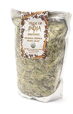 Pride Of India - Séné Bio Feuille De Thé À Base De Plantes Entier, Demi Livre En Vrac (100 gm)