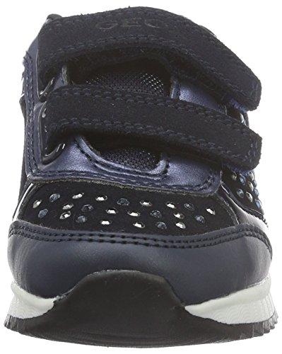 Geox J Maisie C, Baskets Basses Fille Blau (NAVYC4002)