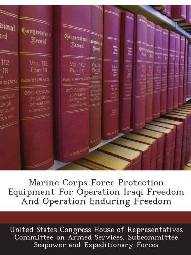Marine Corps Force Protection Equipment For Operation Iraqi Freedom And Operation Enduring Freedom