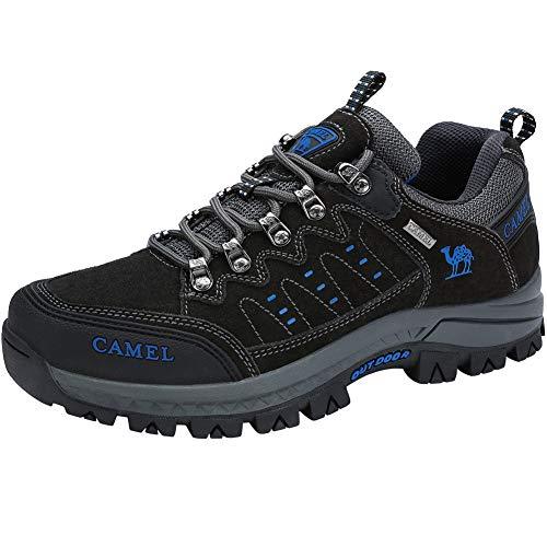 CAMEL CROWN Scarpe Trekking Uomo Donna - Antiscivolo Scarpe da Escursionismo per Arrampicata Sportive All'aperto, Nero 38-44