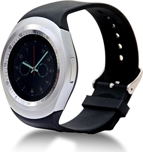 Micromax Joy X1800 COMPATIBLE Bluetooth Smartwatch with SIM Card Support | Android 5.1 OS | Facebook | Whatsapp | Activity Tracker | Fitness Band | Music | Micro SD card Support COMPATIBLE with ZTE Sonata BY MOBIMINT  available at amazon for Rs.3999