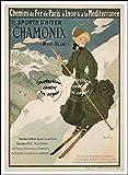 Herbé TM Poster/Reproduction 30x42cm d'1 Affiche Vintage/Ancienne Ski Chamonix Mont - Blanc n105...