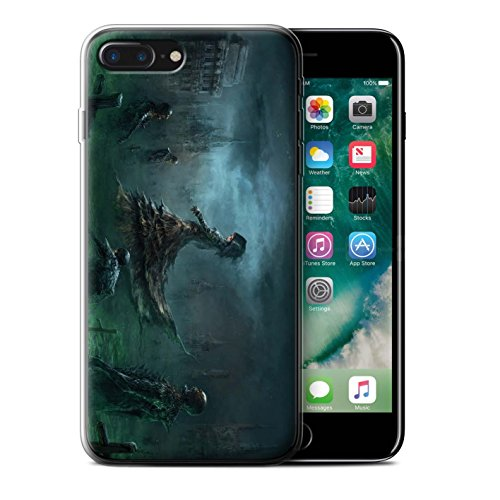 Offiziell Chris Cold Hülle / Gel TPU Case für Apple iPhone 7 Plus / Rotes Band-Engel Muster / Unterwelt Kollektion Banshee/Hexe-Königin