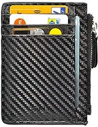 d2d1039829 Portafoglio Uomo - Porta Carte di Credito - RFID/NFC Blocco Attivo - 7 Card