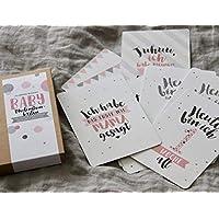 Baby-Meilensteinkarten First Love für Mädchen