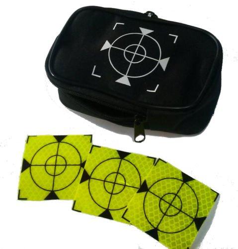Reflex Zielmarken 40x40mm selbstklebend, 100 Stück! + Futteral (grün)