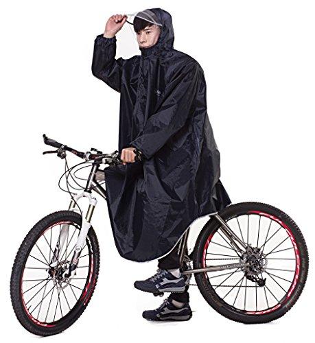 Ommda Bike Fahrrad Regenjacken Regenponcho Wasserdicht Regenmantel für Die Jagd Camping Freizeit Regenmäntel Regencape Tiefblau