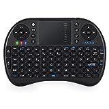 ESYNiC Mini Retroiluminado Teclado Inalámbrico de Diseño Español 2.4GHz Android Teclado Ergonómico con Ratón Touchpad para Smart TV Mini PC Android TV Box PlayStation Xbox HTPC PC Raspberry Pi 3