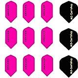 MS-DARTSHOP Flights Amazon Slim 100 Micron Stark, 3 Satz = 9 Stück (Pink)