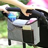 Pueri Bolsas para Carro de Bebés Bolsos de Colgar para Carritos Organizador para Biberones Botellas de Agua Accesorios para Dar un Paseo (A)
