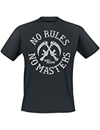 Sons Of Anarchy No Rules No Masters T-shirt noir