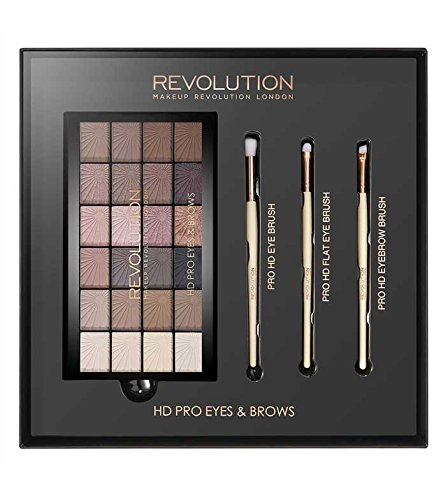 Makeup Revolution–Set Augen und Augenbrauen HD Pro