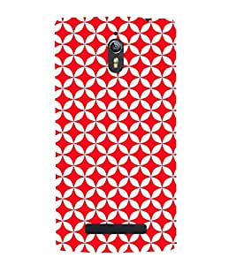 Red Circular Triangles 3D Hard Polycarbonate Designer Back Case Cover for Oppo Find 7