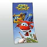 Herding Velourstuch Super Wings, Baumwolle, Mehrfarbig, 150 x 75 cm