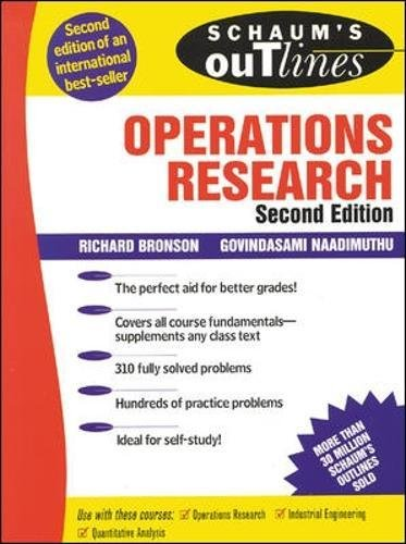Schaum's Outline of Operations Research (Schaum's Outline Series) por Govindasami Naadimuthu