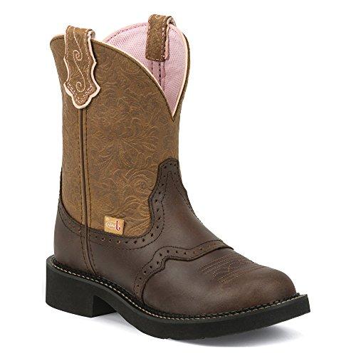Justin Boots Stiefel L9625 Damen Westernreitstiefel Brown Tan