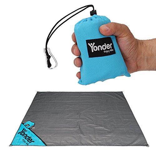 Yonder® Premium Outdoor Picknickdecke | Wasserdicht + waschbar für 3 Personen | Einzigartige Versteck-Tasche | Ideal für Reisen, Strand & Festival