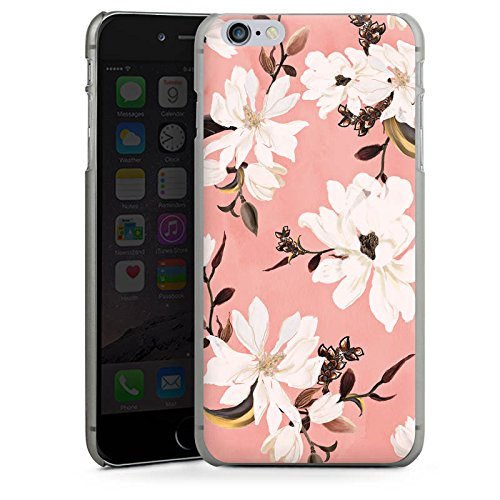 Apple iPhone X Silikon Hülle Case Schutzhülle Frühling Weiße Blumen Rosen Hard Case anthrazit-klar