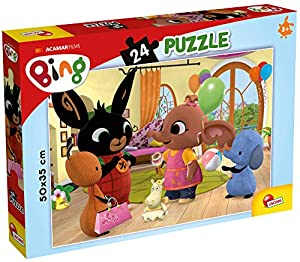 Lisciani Giochi - Puzzle Plus 24 Bing Facciamo Festa Juego para Niños, 77960