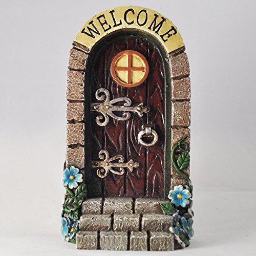 Fisher Elfen-/Feen-Tür mit Aufschrift Welcome, Gartendekoration,lustiges Geschenk ()