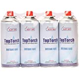 Top Torch® Butane Fuel Can Flame Torch for Soldering/Camping and Stove(Pack of 4)