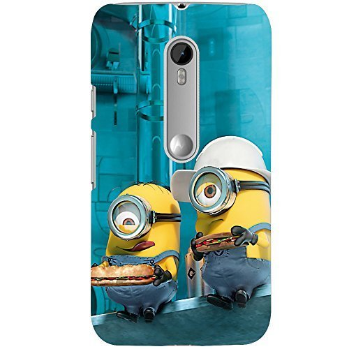 finest selection 4cbbc d268e Clapcart Minions Printed Mobile Back Cover for Moto G 3rd Gen / Moto G3  -Multicolor