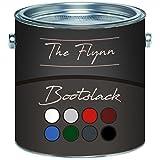 The Flynn Bootslack hochwertiger Yachtlack in 8 Farben und farblos Bootsfarbe Yachtfarbe Pakett-LackSchiffslackierungabriebfeste, seewasserfeste und extrem wetterfeste Schiffslackierung (2,5 L, Himmelblau (RAL 5015))