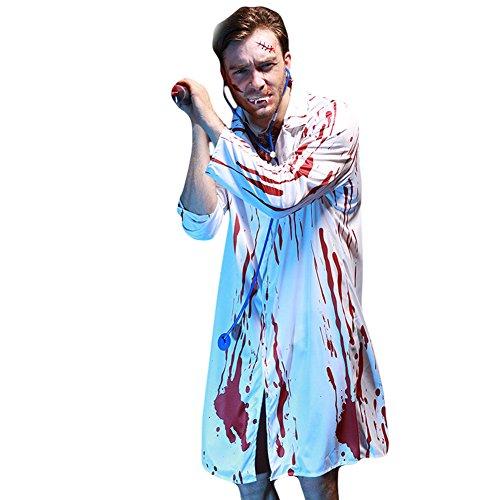 Halloween Cosplay Schreckliches Blut Kostüm mit Requisit (Schrecklich Herren-halloween-kostüme)