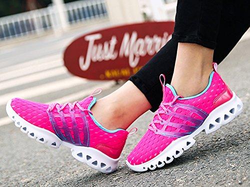 IIIIS-R Herren Damen Unisex Laufschuhe Walkingschuhe Leichtathletikschuhe Fitnessschuhe Rosa