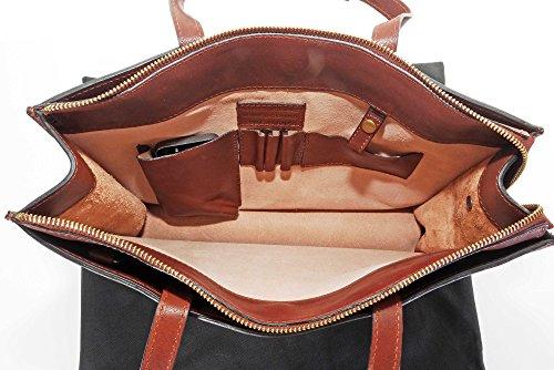 Lusso in pelle italiana donna classico sobrio stile Vintage Folio borsa portadocumenti Tracolla.Fornita nella pratica custodia protettiva marca Mid Brown