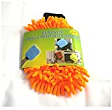 Putzhandschuh Chenille 2in1, Orange, 023/560