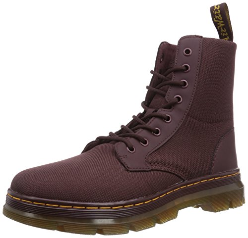 Dr. Martens Combs Cordura/ Rubbery Oxblood, Chaussures bateau homme Rouge - Rot (OXBLOOD)
