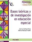 Bases teóricas y de investigación en educación especial (Psicología)