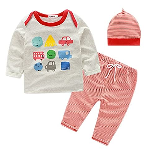 YOGLY Pyjama Unisexe Enfant Ensemble De Pyjama Bonnet