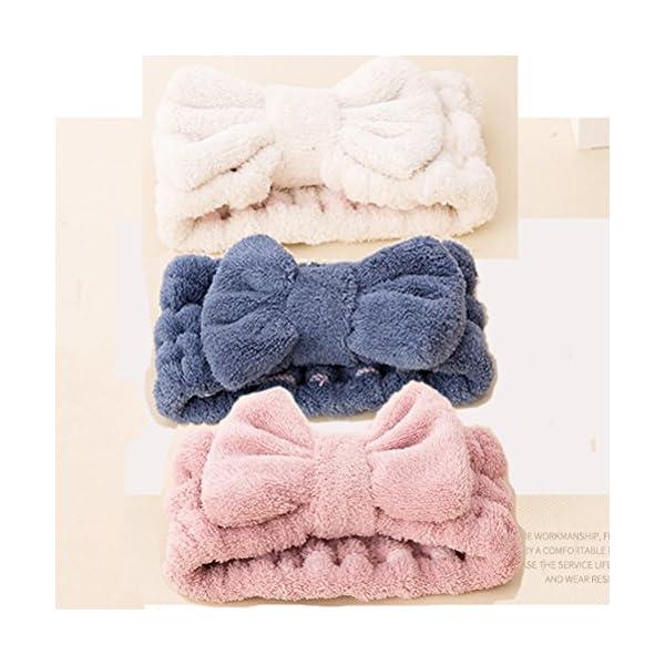FRCOLOR - Fascia per capelli da donna elastica per il trucco del viso, trattamenti cosmetici e doccia, 3 pezzi 5 spesavip