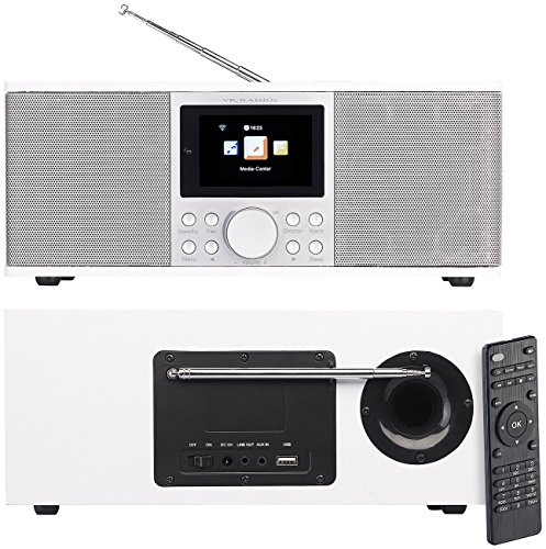 VR-Radio Internetradios: Stereo-Internetradio mit DAB+, FM, Bluetooth & Wecker, 32 Watt, weiß (DAB Plus Radio) (Wecker Radio 4 Iphone)