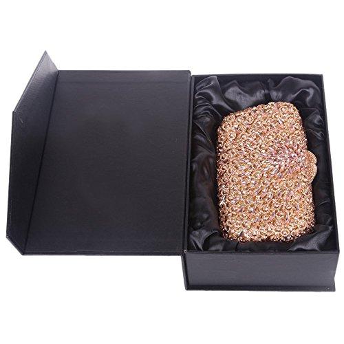Santimon Clutch Dello Donne Diamante Borse Da Festa di Nozze Sera Per Partito Matrimonio Con Tracolla Amovibile 3 Colori champange