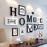 fsdacswds &Dekorative Wände Massivholz Galerie Frame Set Wand, Mode Home Decoration Foto Galerie Rahmen mit verwendbaren Artwork und Familie, Satz von 16 Modischer Entwurf (Farbe : B)