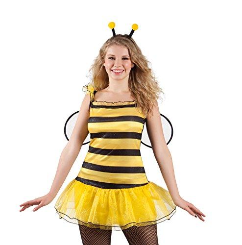 Damen Für Biene Erwachsene Kostüm Honig - Kostüm 83502 - Zauberhafte Biene, gelb